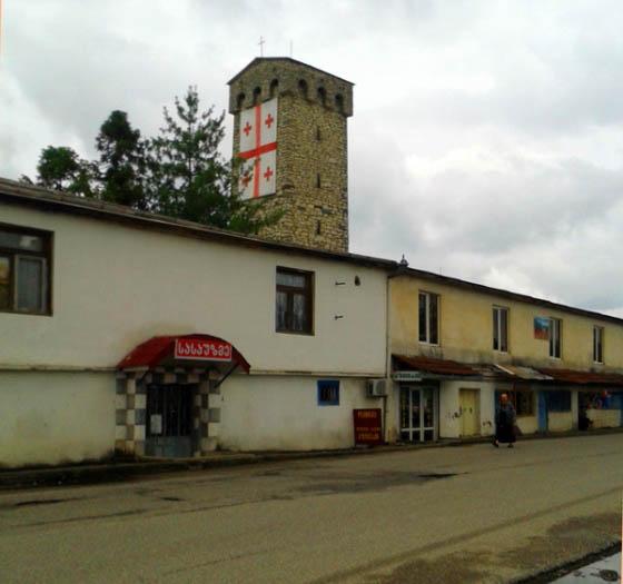 сванская башня в зугдиди
