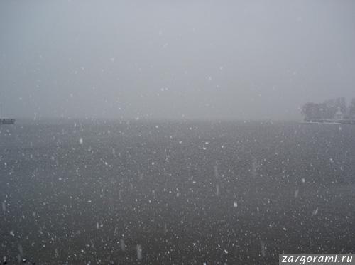 Снег на Финском заливе
