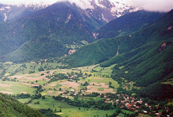 Достопримечательные горные регионы Грузии