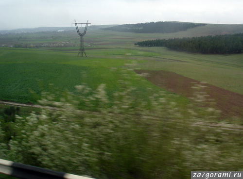 Вид из окна автобуса Тбилиси - Зугдиди
