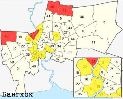 карта наводнения в бангкоке