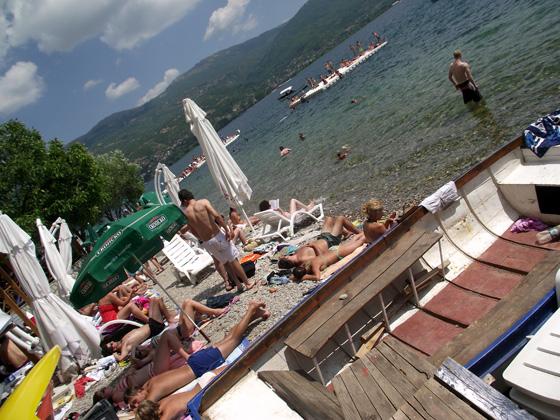 Пляж в Охриде