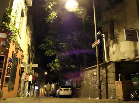 Улицы Стамбула ночью