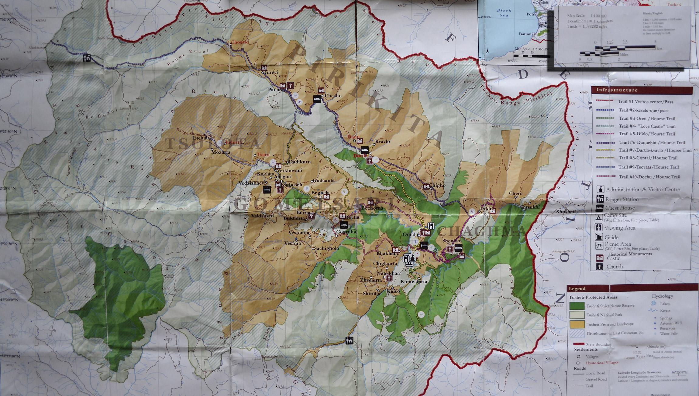 карта тушети