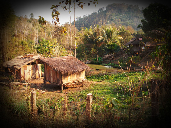 деревня в лаосе