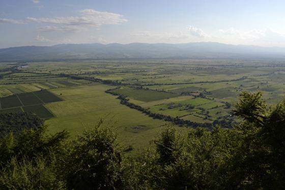 Панорама на Алазанскую долину с Некреси