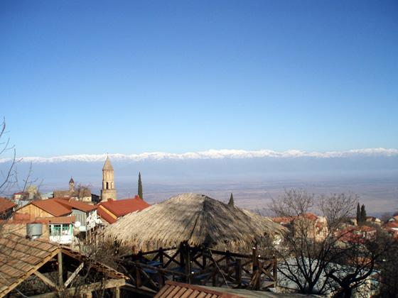 сигнахи, грузия, зимой