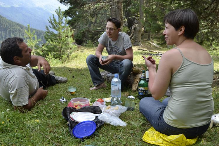 Пикник у пропасти в Тушети