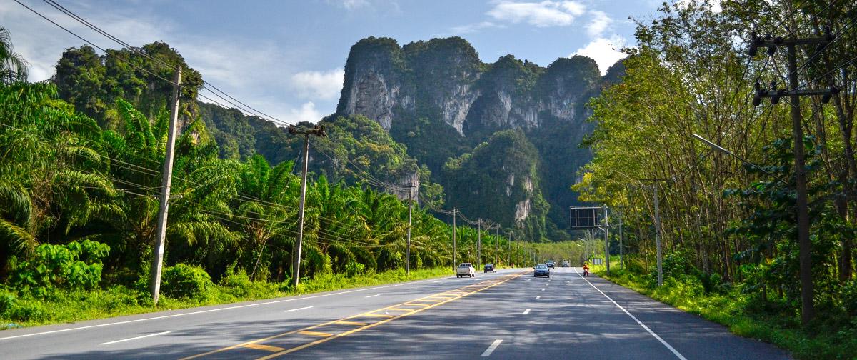 Дорога из Краби-Тауна в Ао Нанг