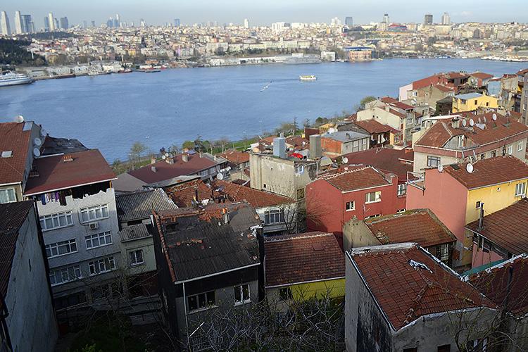 панорама на стамбул с мечети Явуз Селим