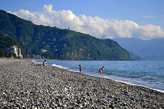 в грузию на море с палатками
