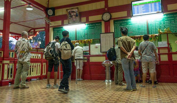 Железнодорожный вокзал Хуахина, кассы