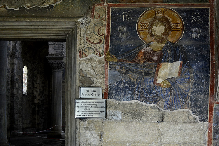 Фреска с ликом Иисуса Христа