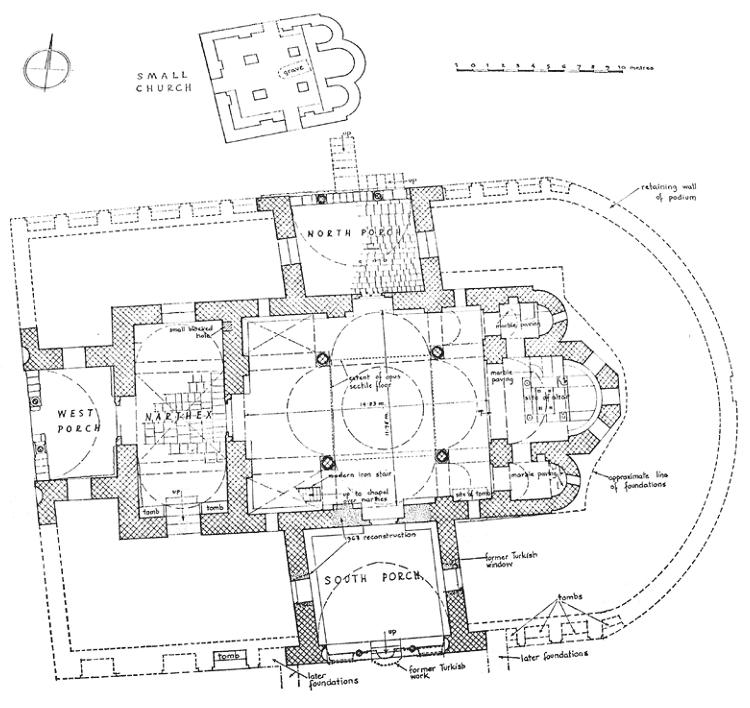 план собора святой софии в трабзоне