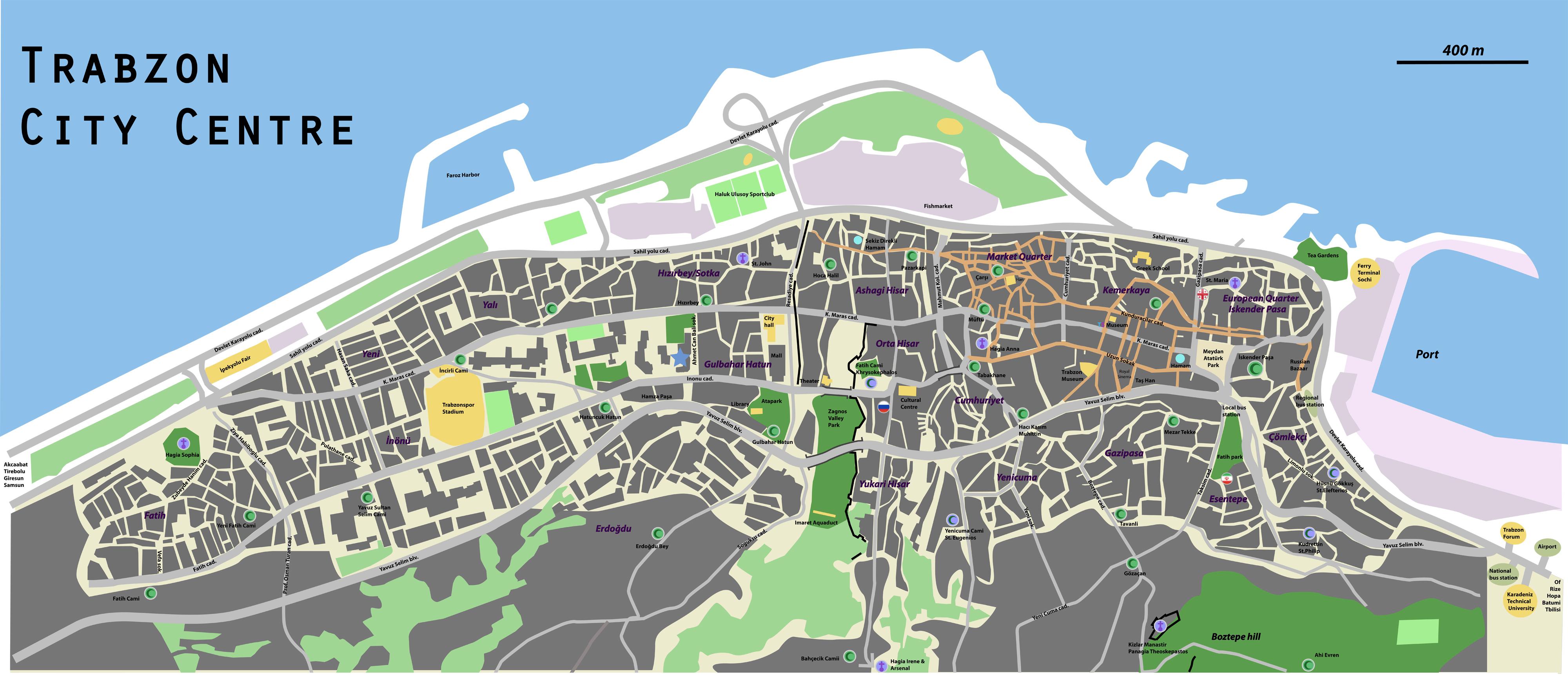 карта трабзона