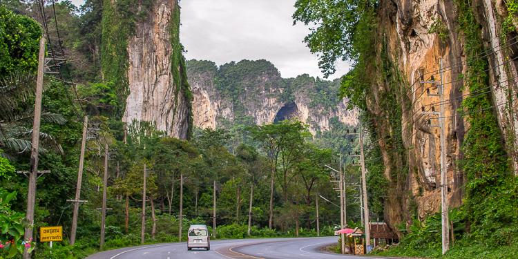 Дорога из Краби-Таун в Ао-Нанг