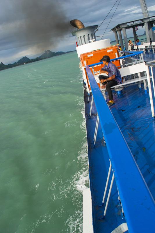 Сиамский залив с парома Донсак - Самуи