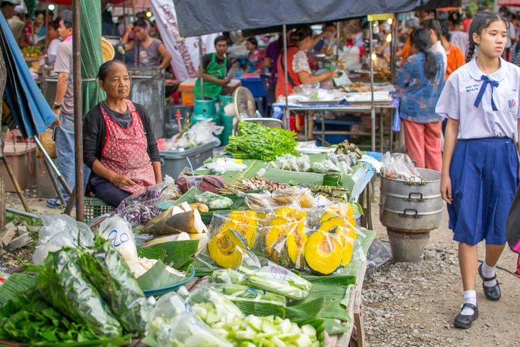 Тыква на рынке в Таиланде