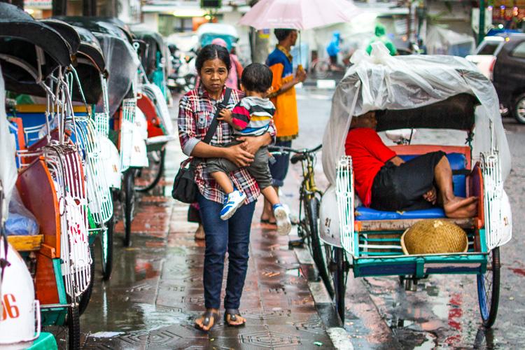 Велорикша, Джокьякарта, Индонезия