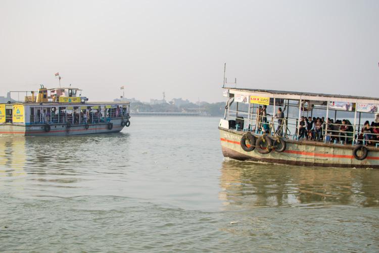 ferries on Hooghly river