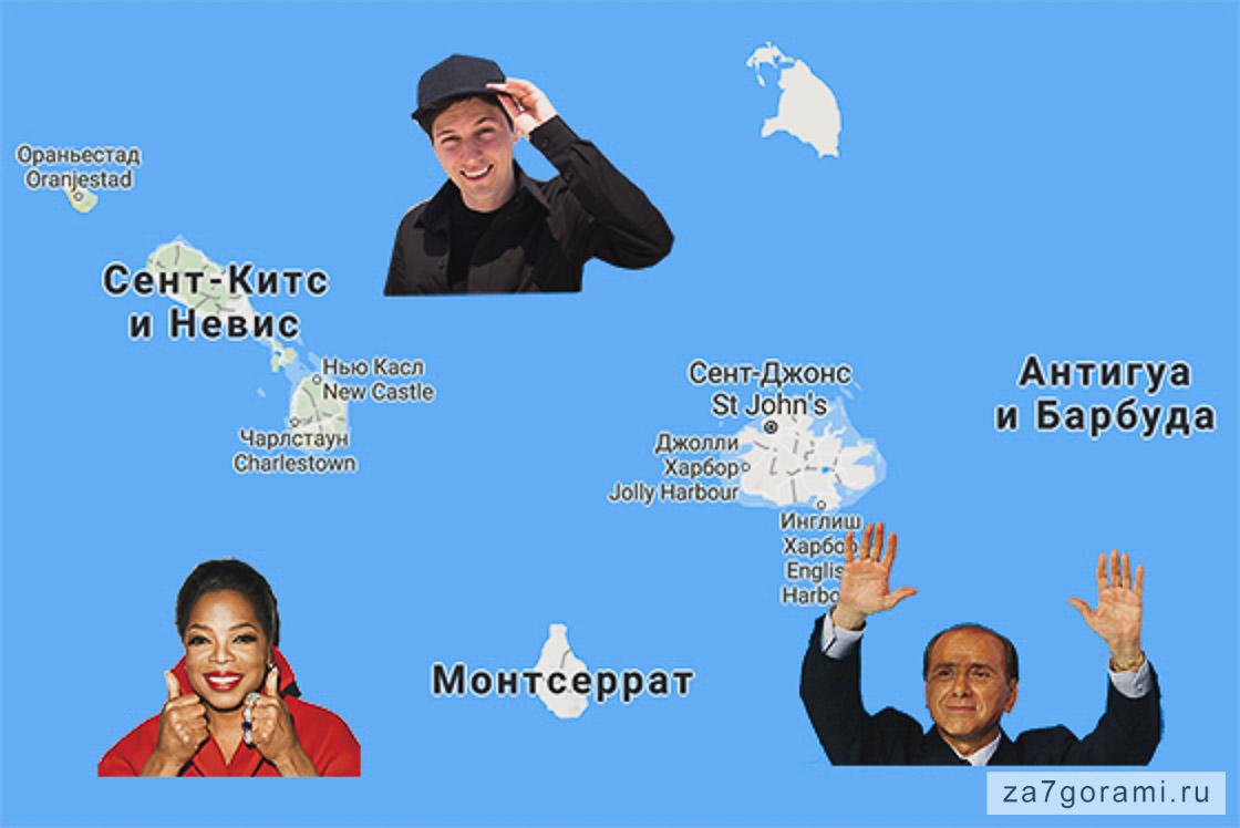 Знаменитости, приобретшие гражданства Антигуа и Сент-Китс и Невис