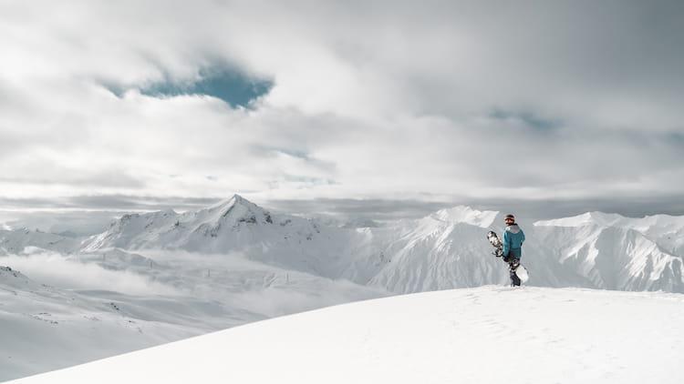 Катаемся на сноуборде в Грузии
