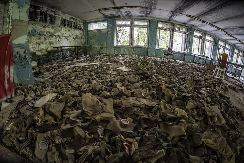 Припять, Чернобыльская зона отчуждения