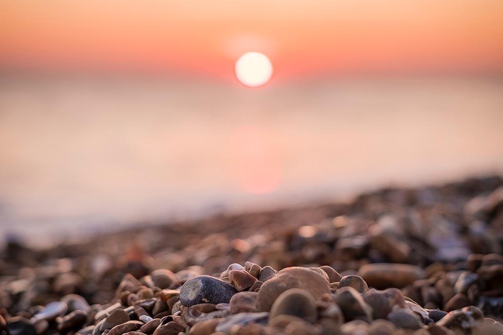 Чёрное море на закате