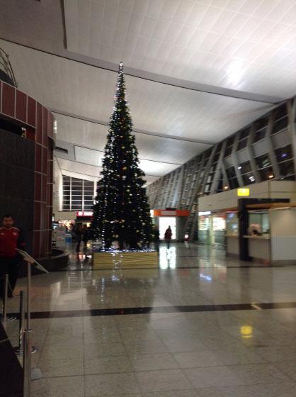 Международный аэропорт Тбилиси на Новый год