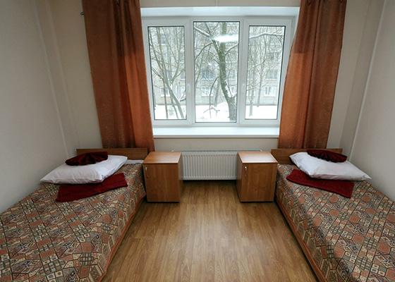 Двухместный номер в общежитии в Москве