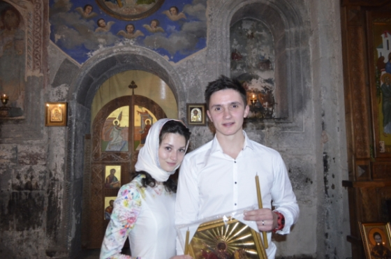 Украинцы повенчались в Грузии